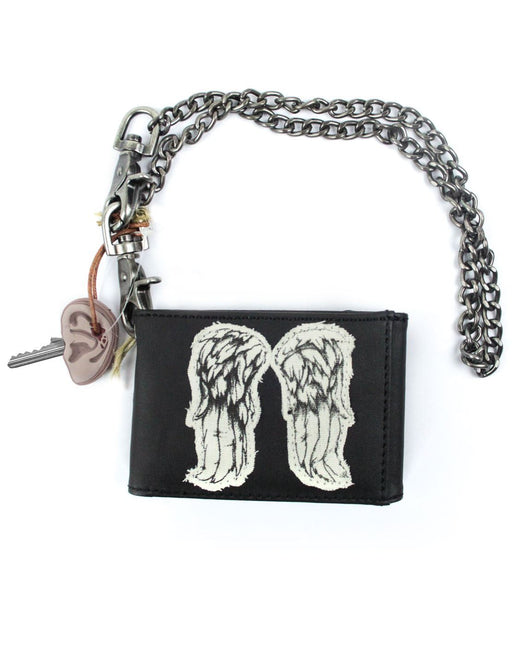 Walking Dead Daryl Dixon Wings Wallet, Chain & Key Cover Set