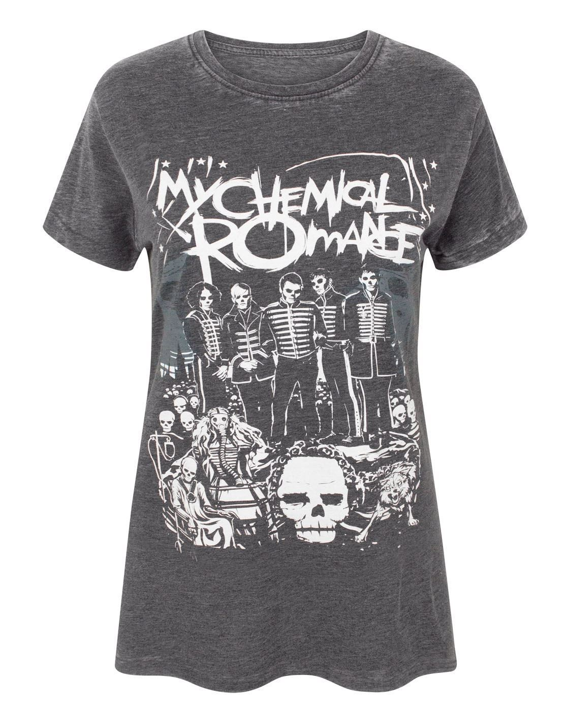 My Chemical Romance The Black Parade Poster Burn Out Womens T Shirt