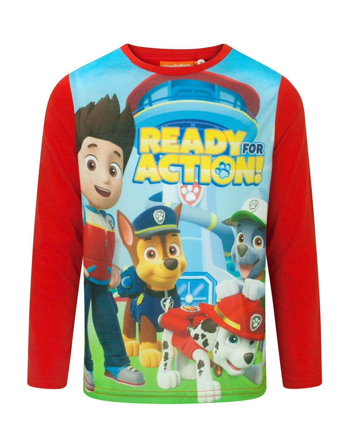 728eac660c Paw Patrol Ready For Action Boy s Longsleeved T-Shirt – Vanilla Underground