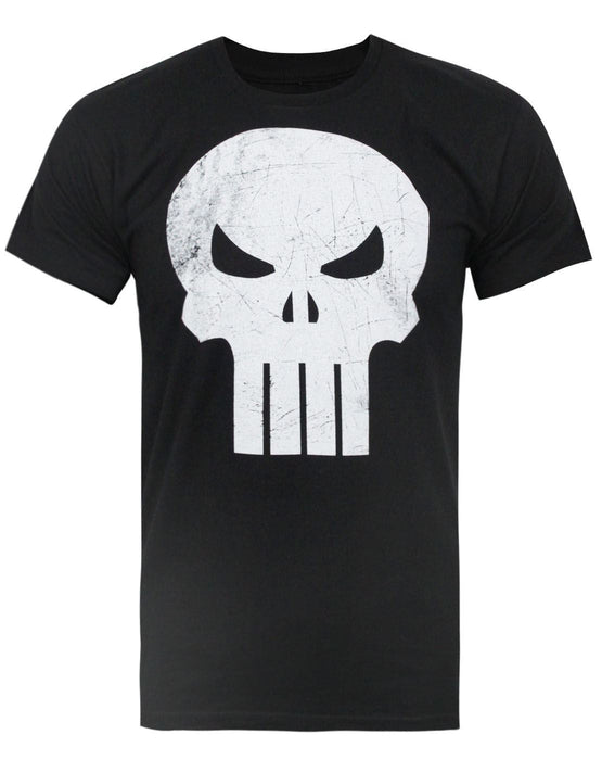 Jack Of All Trades Punisher Skull Distressed Logo Men's T-Shirt