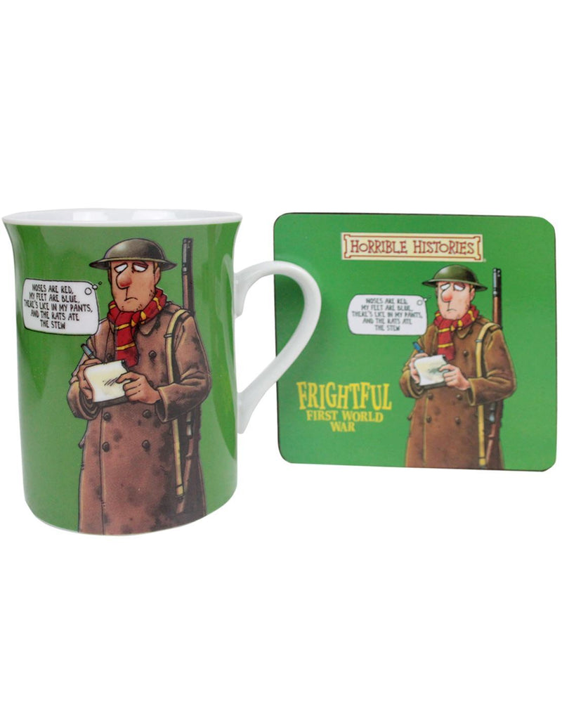 Horrible Histories Frightful First World War Mug And Coaster