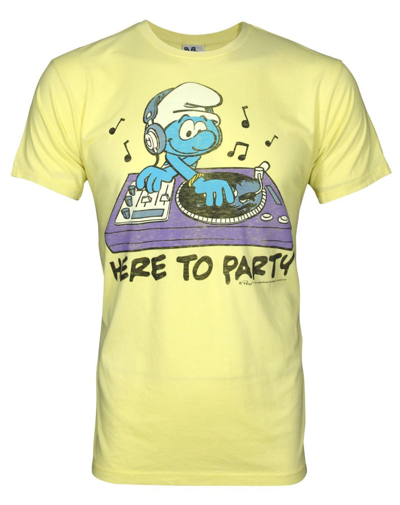 Junk Food Smurfs Here To Party Men's T-Shirt