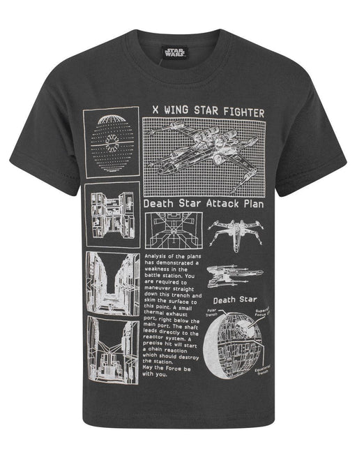 Star Wars Death Star Attack Plan Boy's T-Shirt