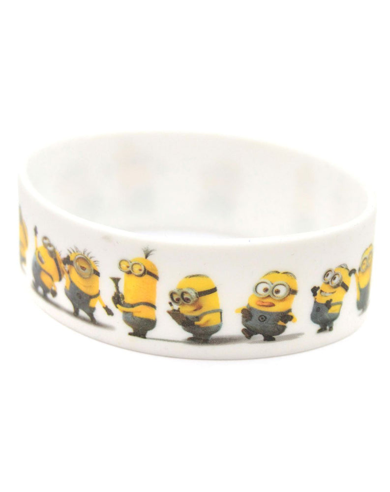 Despicable Me 2 Minions White Rubber Wristband