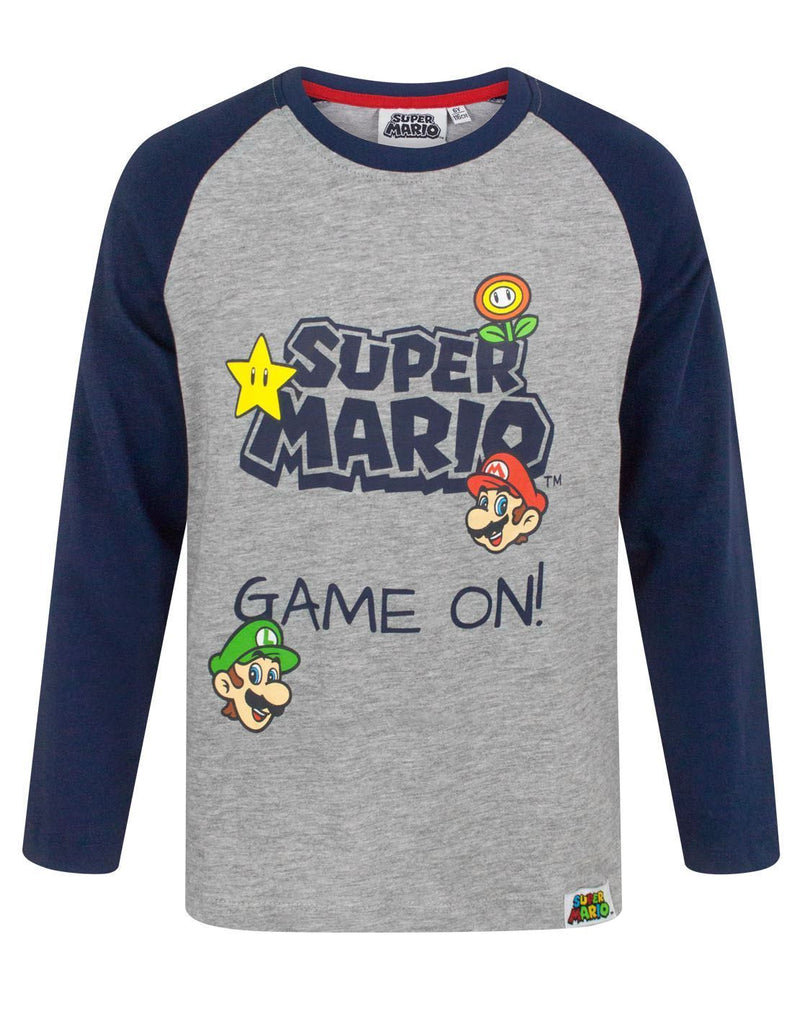 Super Mario Game On Boy's Long Sleeve T-Shirt