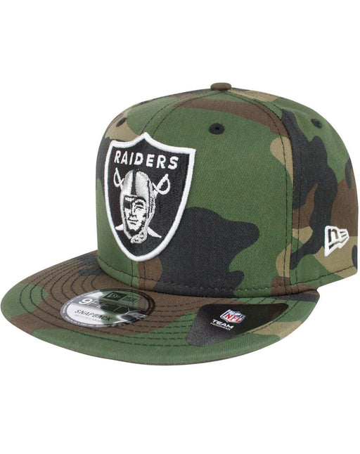 New Era 9Fifty NFL Woodland Camo League Essential Oakland Raiders Snapback Cap
