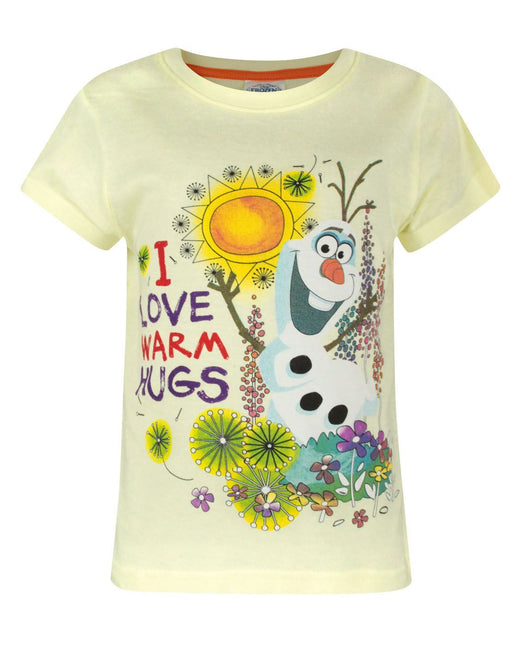 Frozen I Love Warm Hugs Girl's T-Shirt