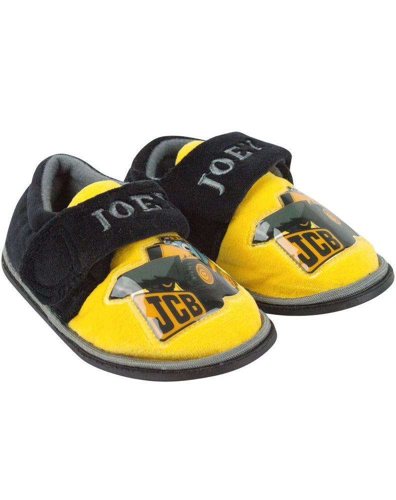JCB Joey Character Yellow Boy's Slippers