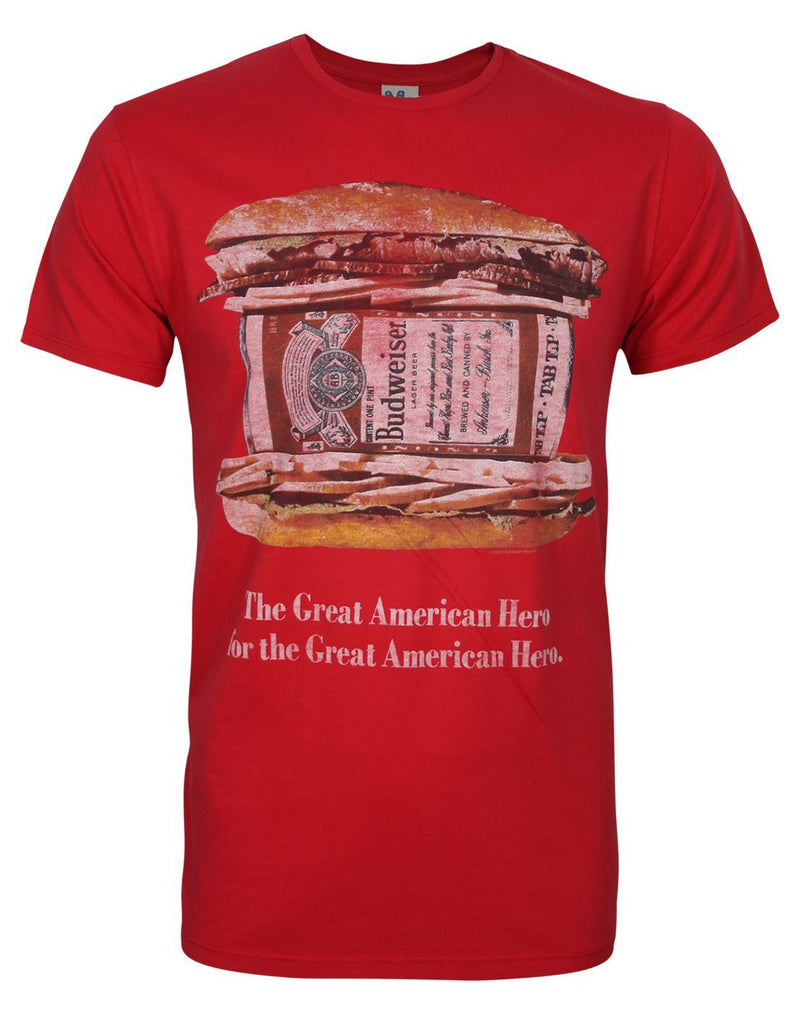 Junk Food Budweiser Hero Men's T-Shirt