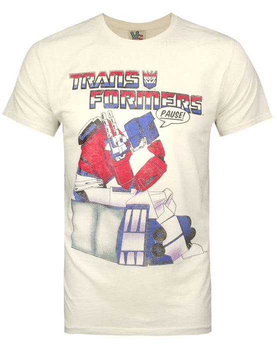 Junk Food Transformers Pause Men's T-Shirt