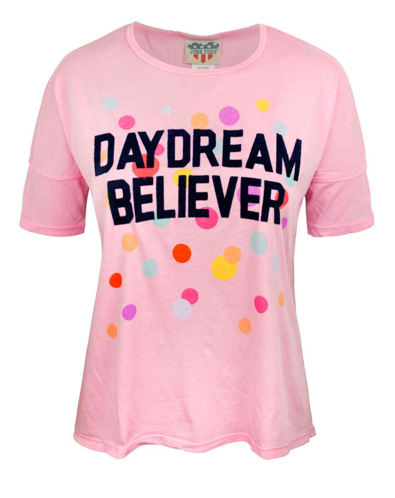 Junk Food Daydream Believer Women's Oversized Crop Top