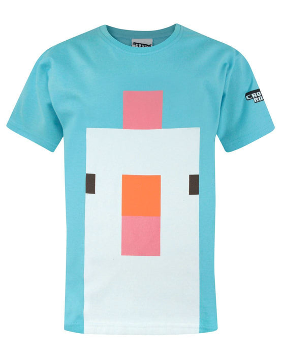 Crossy Road Chicken Face Boy's T-Shirt