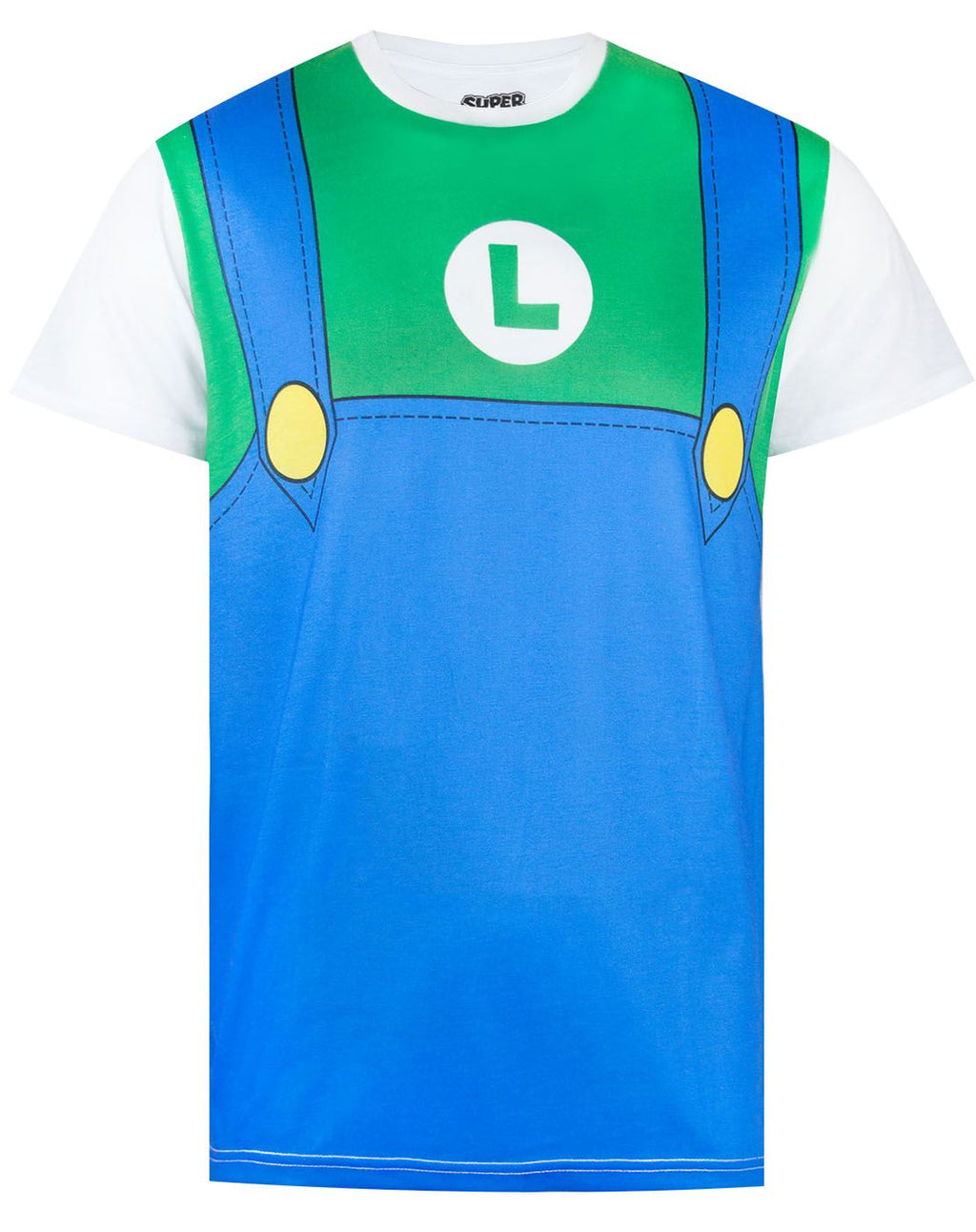 Super Mario Luigi Costume Mens T-Shirt