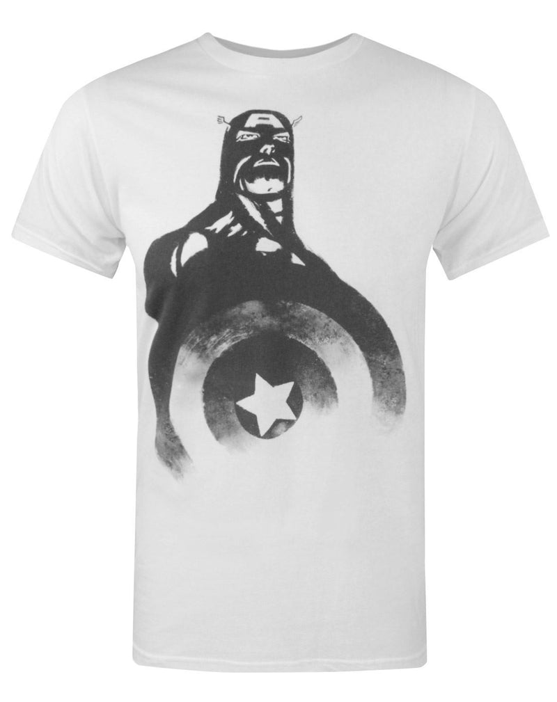 Jack Of All Trades Captain America Black And White Men's T-Shirt