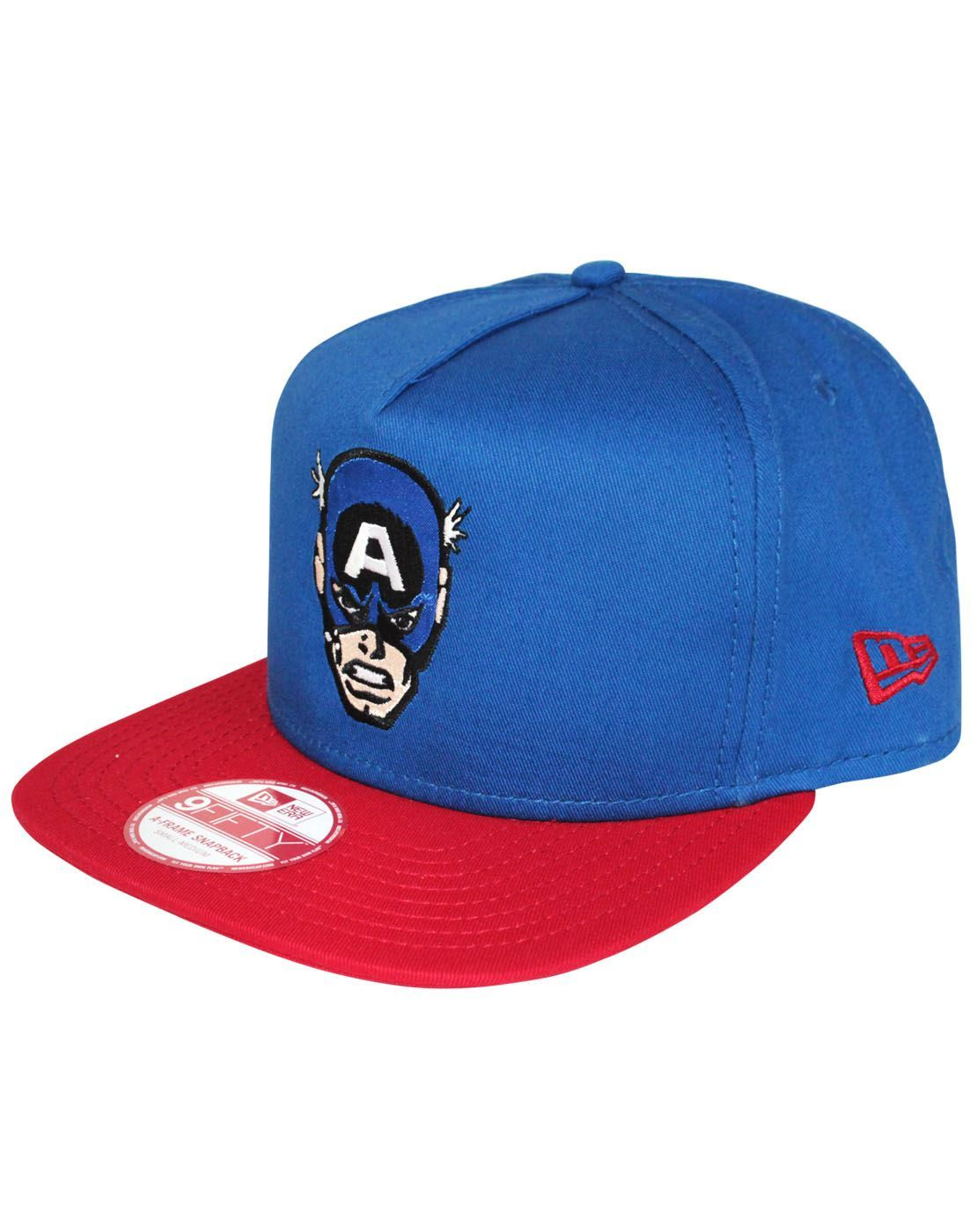 f76caf3bbfd New Era 9Fifty Hero Face Captain America Snapback Cap – Vanilla Underground