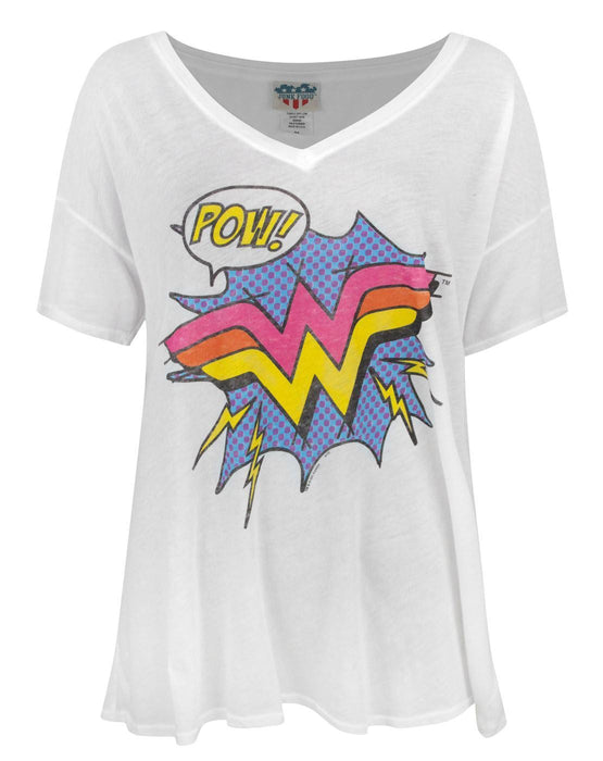 Junk Food Wonder Woman Pow Women's Relaxed Top