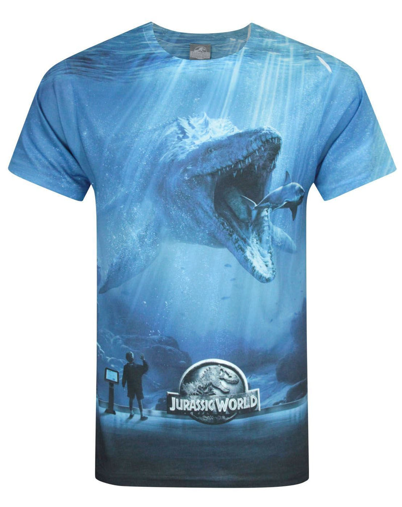 Jurassic World Mosasaurus Sublimation Men's T-Shirt