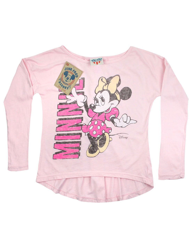 Junk Food Minnie Mouse Girls Long Sleeve Top