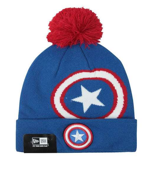 New Era Captain America Over Logo Knit Hat