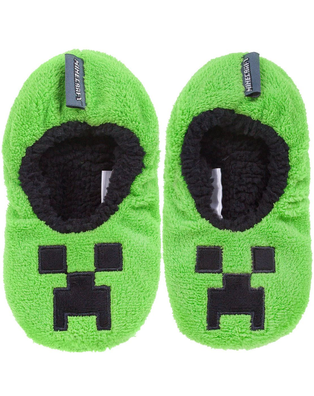 Minecraft Creeper Boy's Slipper Socks