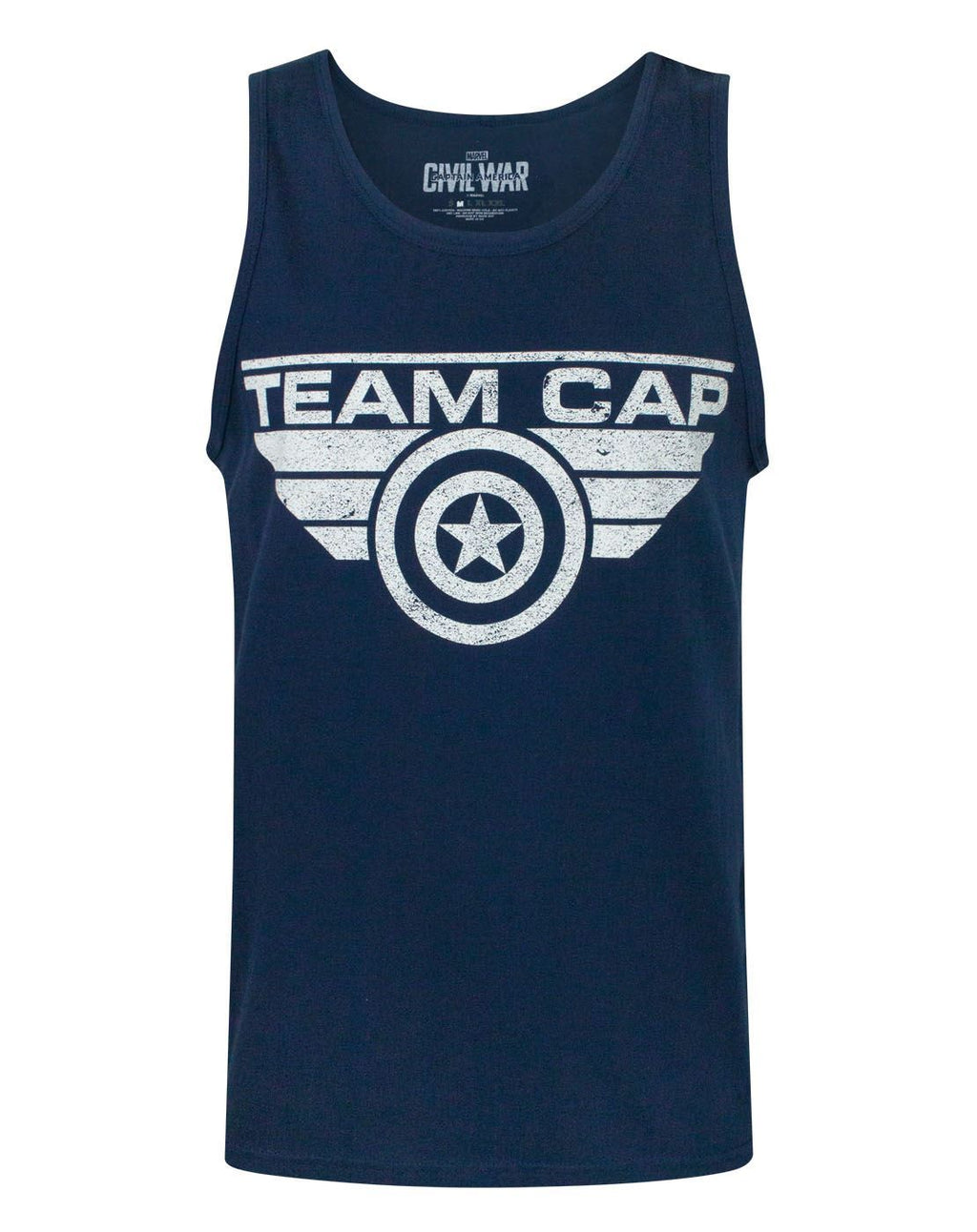 Captain America Civil War Team Cap Distressed Men's Vest