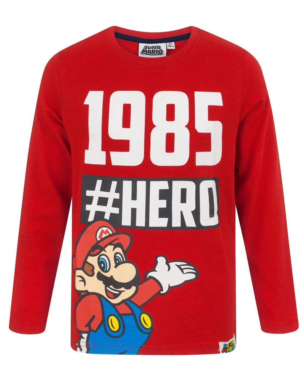 Super Mario Hero Boy's Long Sleeve T-Shirt