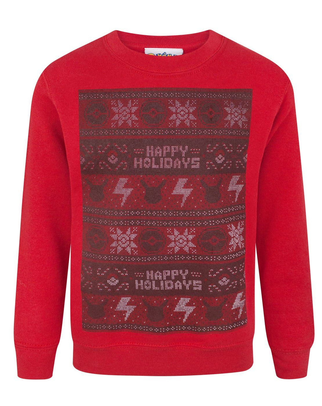 Pokemon Happy Holidays Christmas Kid's Sweatshirt