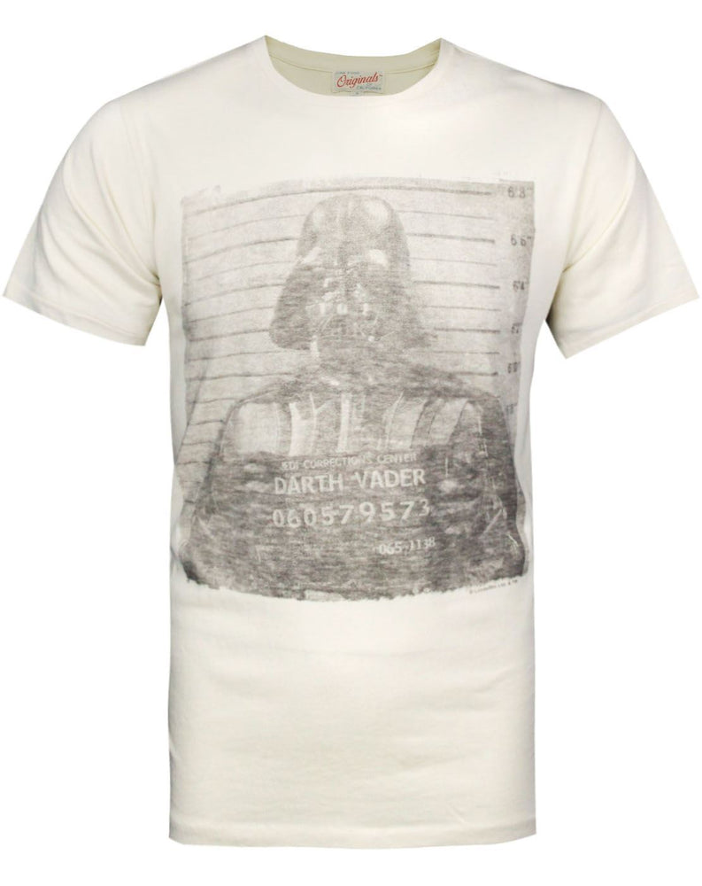 Junk Food Star Wars Darth Vader Mugshot Men's T-Shirt