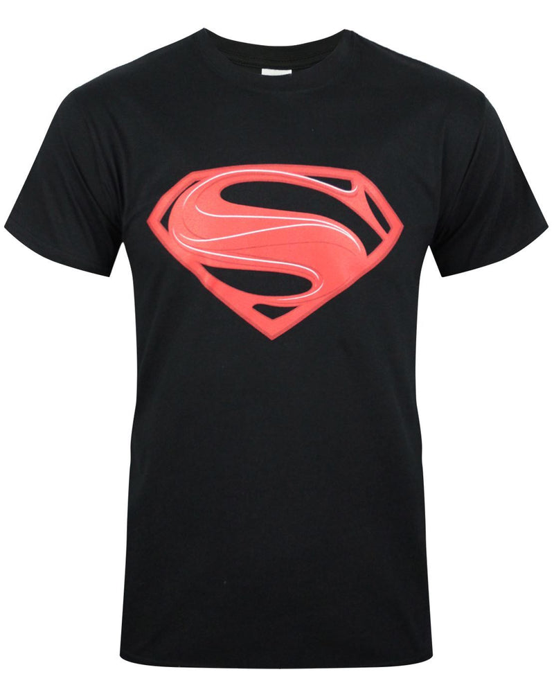 Superman Man of Steel Red Logo Men's T-Shirt
