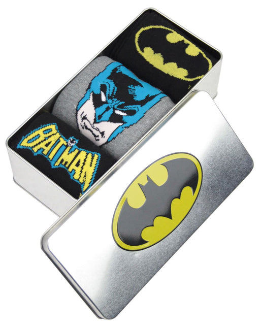 Batman Logo Tin of Socks Gift for Him