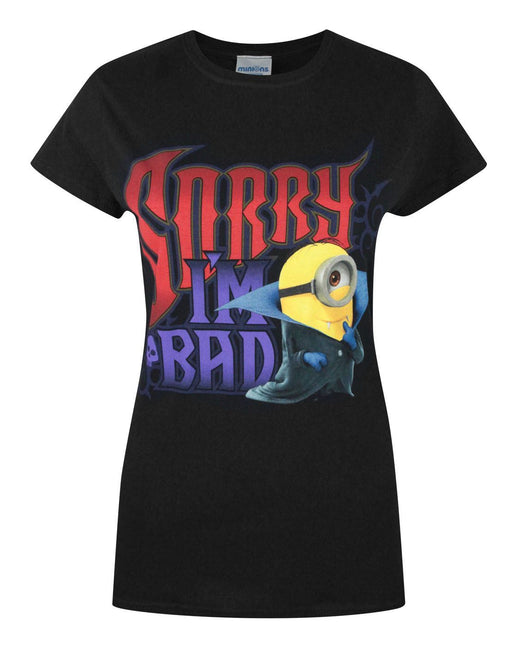 Minions Sorry I'm Bad Women's T-Shirt