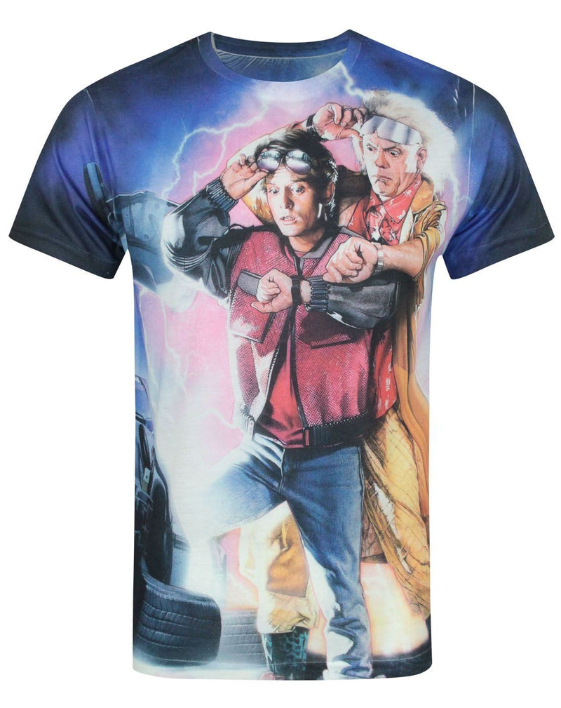 Back To The Future II Sublimation Men's T-Shirt
