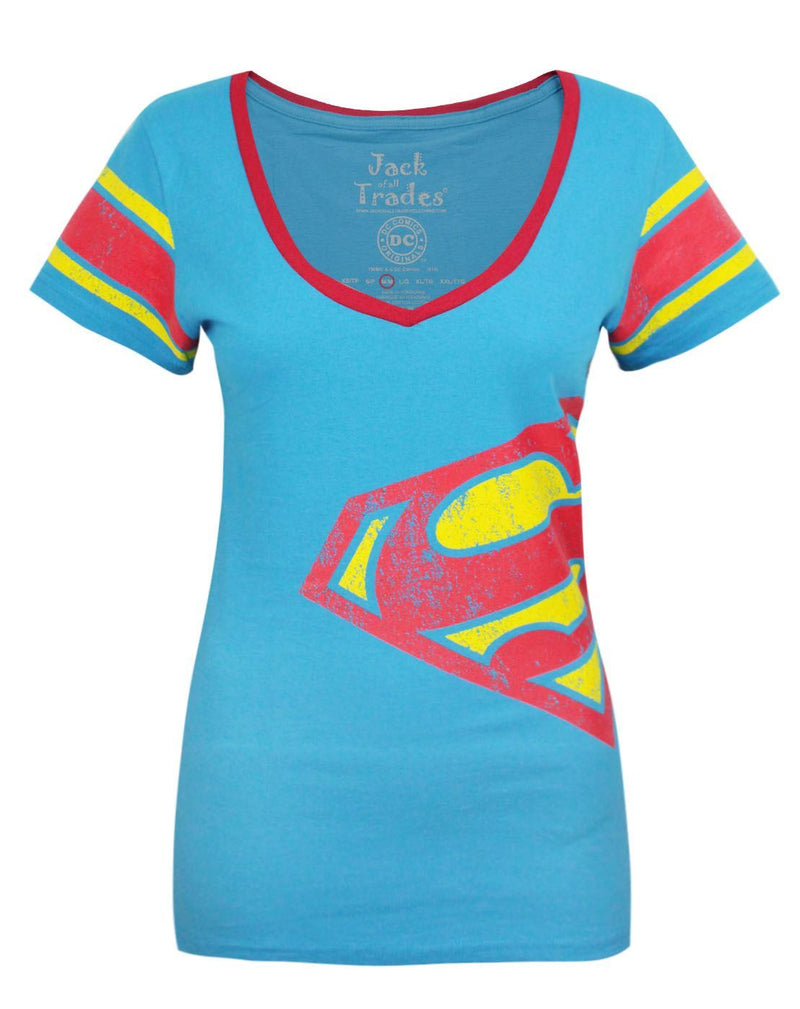 Jack Of All Trades Superman Logo Women's Jersey