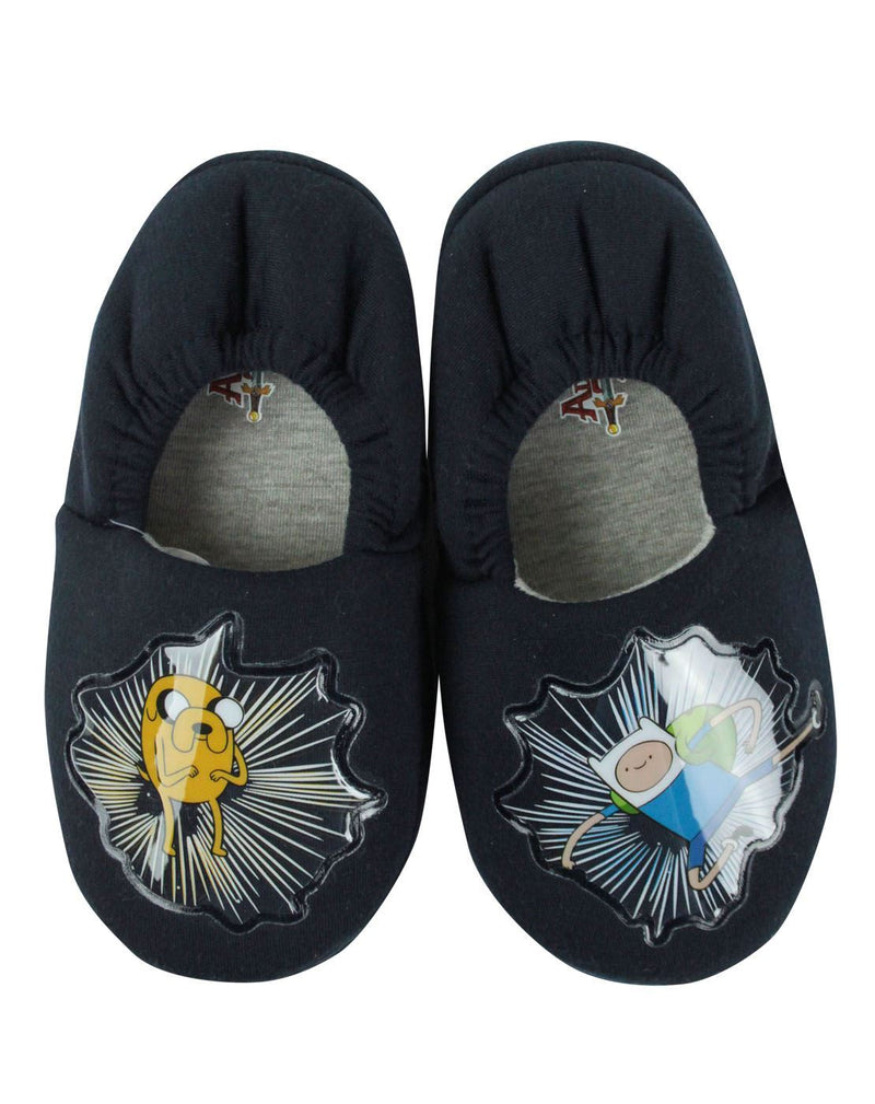 Adventure Time Jake & Finn Boy's Slippers