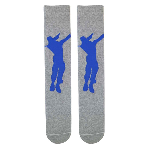 Fortnite Dabbing Dancer Grey Boys/Men's Socks Sizes 9 UK Kids to 11 Adults