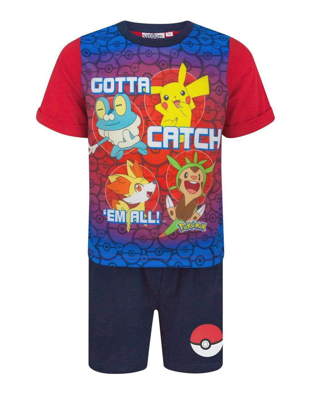 Pokemon Gotta Catch Em All Boy's Short Pyjamas