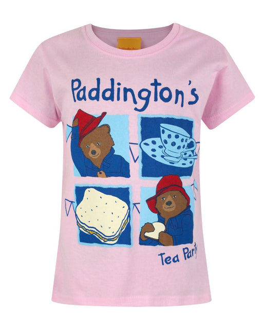 Paddington Bear Tea Party Pink Short Sleeve Girl's T-Shirt