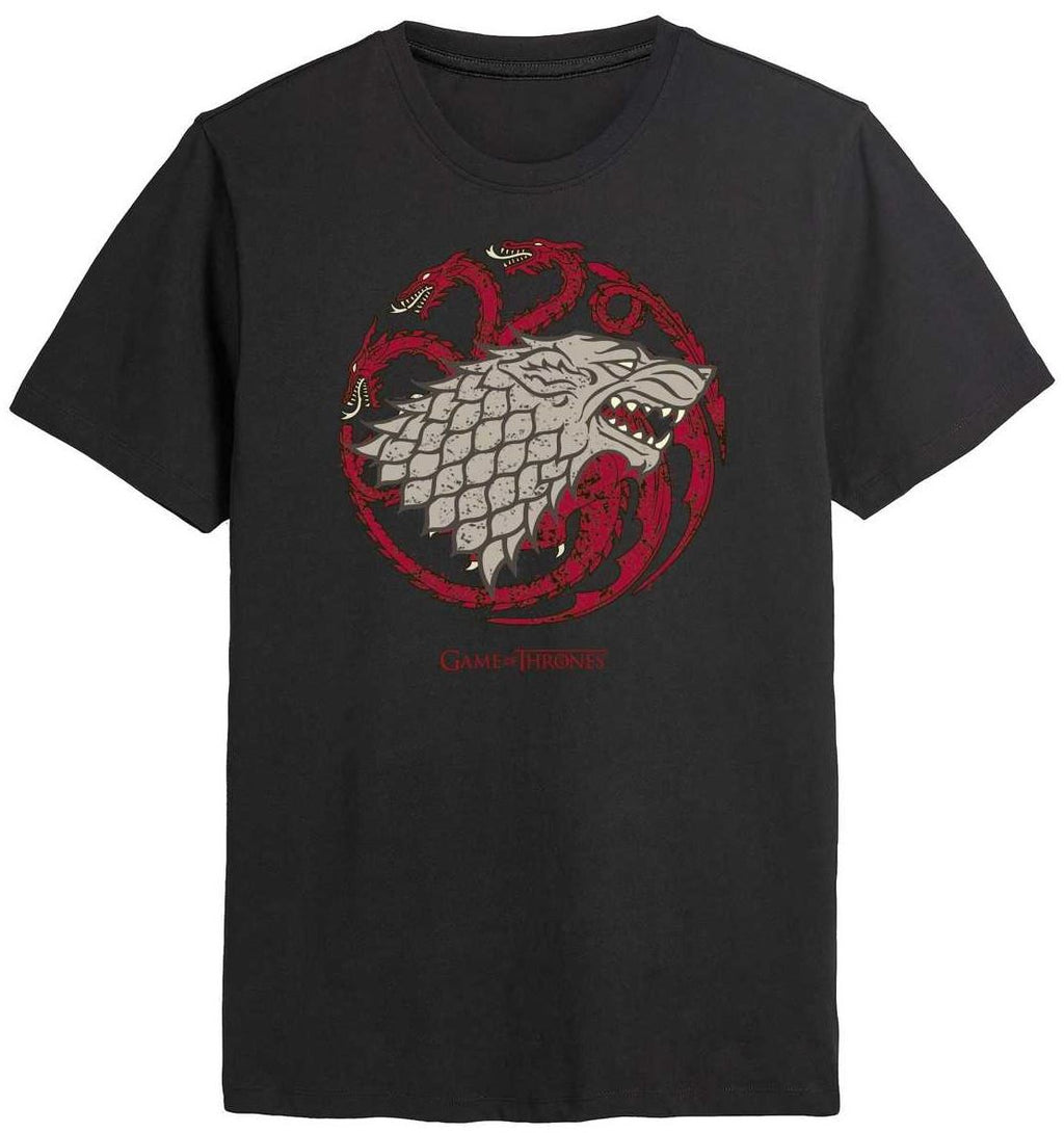 Game Of Thrones Stark Targaryen House Emblem Men's T-Shirt