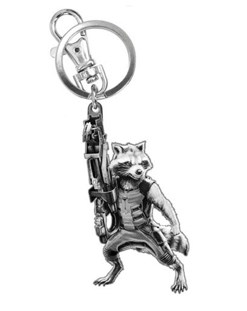 Guardians Of The Galaxy Rocket Raccoon Pewter Key Chain
