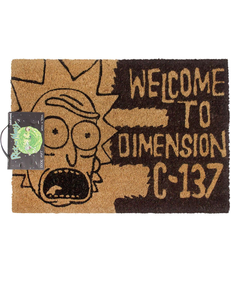 Rick And Morty Welcome To Dimension C-137 Door Mat