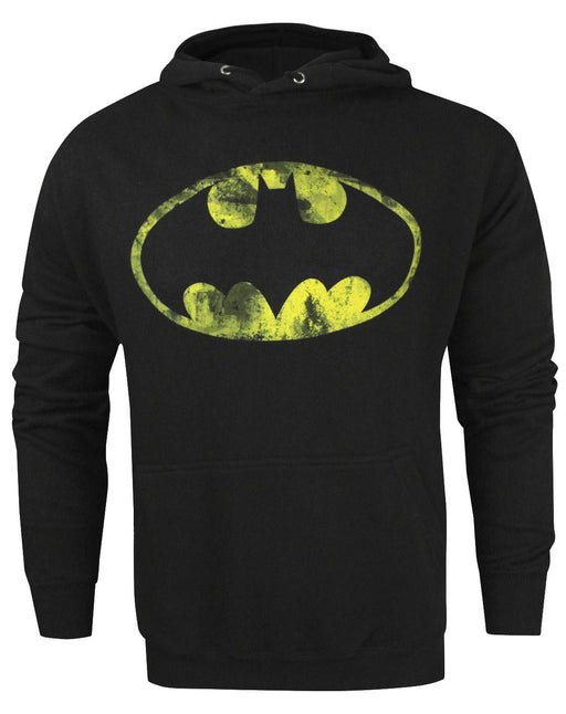 Batman Classic Distressed Logo Men's Hoodie