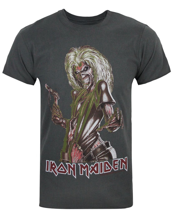 AMPLIFIED IRON MAIDEN KILLERS MEN/'S CHARCOAL T-SHIRT