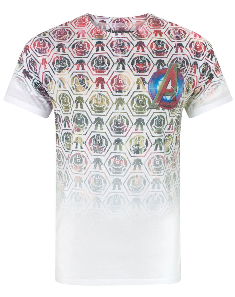 Avengers Age Of Ultron Icons Pattern Sublimation Men's T-Shirt