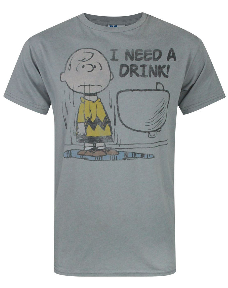Junk Food Peanuts I Need A Drink Men's T-Shirt