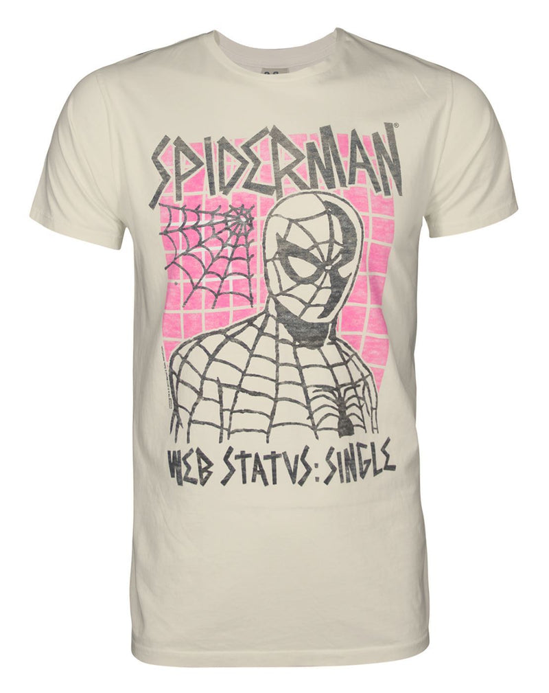 Junk Food Spider-Man Status Single Men's T-Shirt