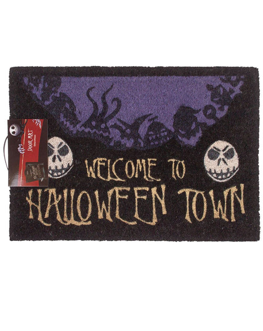 Nightmare Before Christmas Halloween Town Door Mat