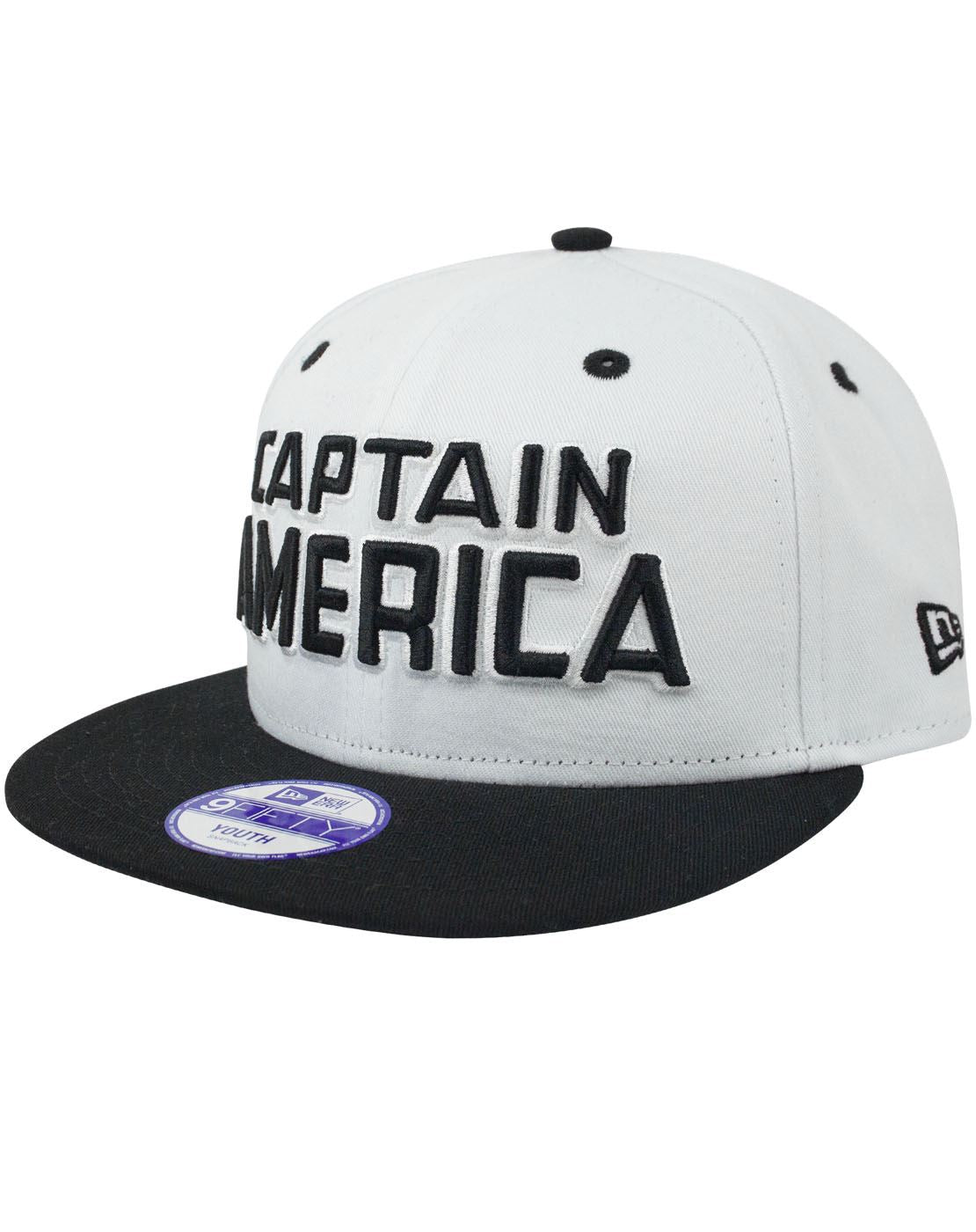 New Era 9Fifty Captain America Mono Hero Kid s Snapback Cap ... 72cb8042f6f2