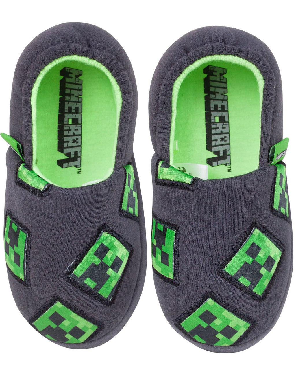 Minecraft Creeper Boy's Slippers