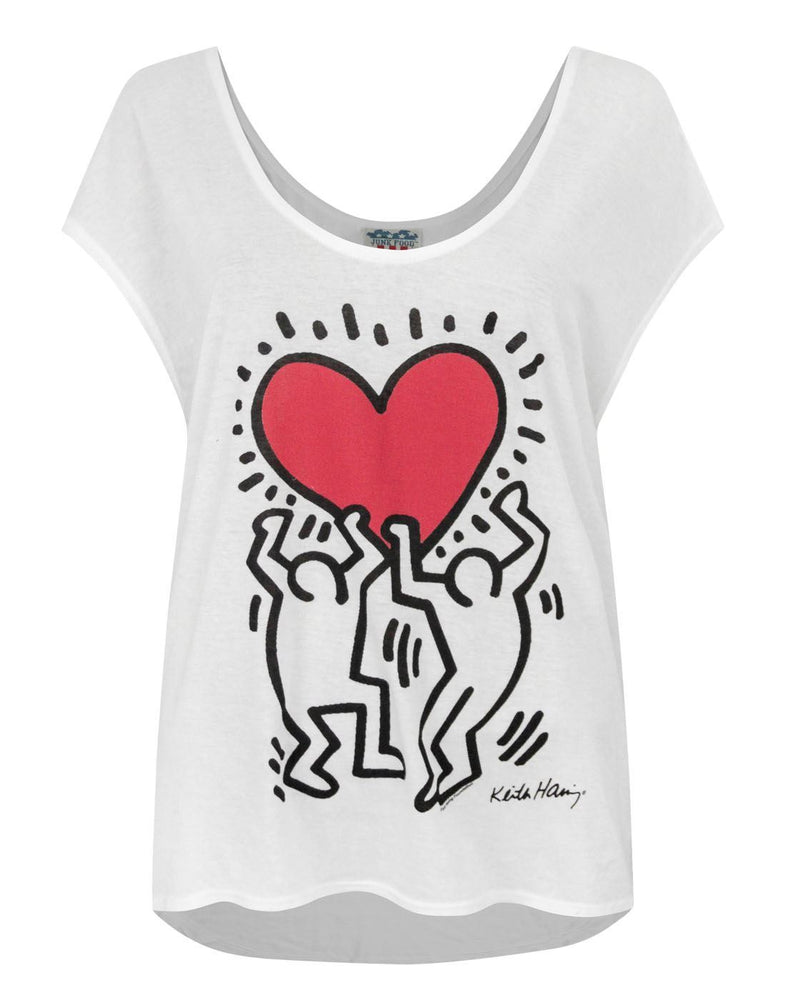 Junk Food Keith Haring Raising Heart Women's Vest