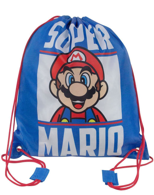 Super Mario Drawstring Swim Bag